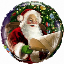 "Christmas Foil Balloon - Santas List (18"") 1pc"